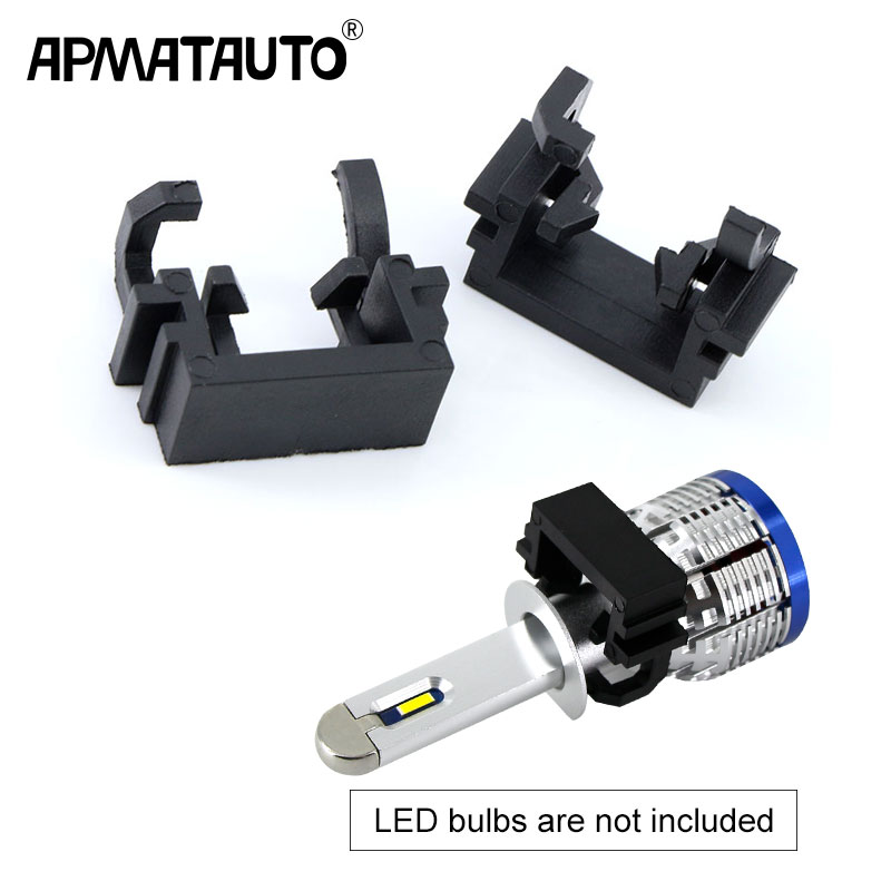 2Pcs H1 LED Headlight Bulb Lamp Conversion Adapter Holder Base High Beam For Ford Focus For Mondeo For KIA Carnivl
