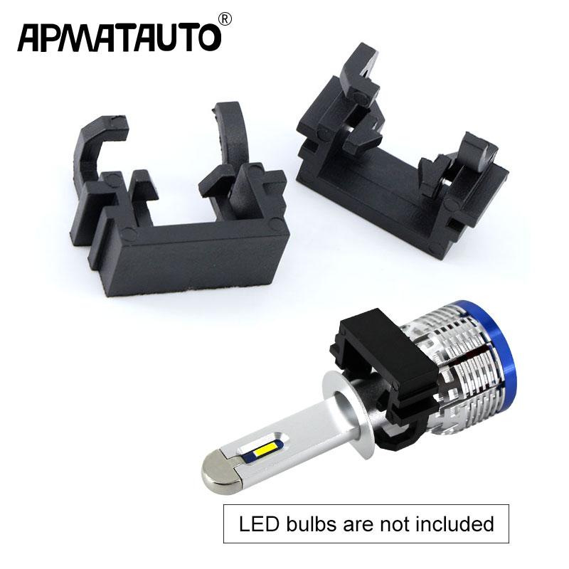 H1 Ford Focus Mk3 High Main Beam HID Conversion Bulb Clips Adaptors Pair LED