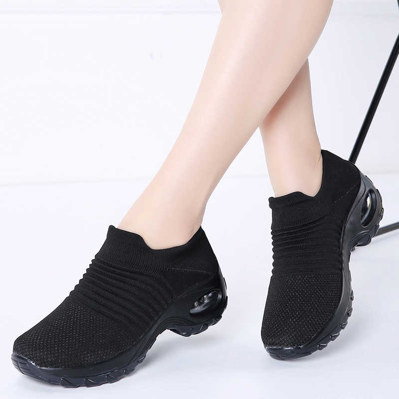 Giày Tập Đi Cho Nữ Giày Giày Đế Bằng Phẳng Trơn Trượt Trên Lưới Thoáng Khí Mút Giày Sneaker Giày Công Sở Nữ Huấn Luyện Viên 1839