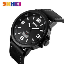 SKMEI Fashion Mens Watches Quartz Wristwatches 3Bar Waterproof Top Brand Luxury Watch Men Leather Strap relogio masculino 9115 carnival brand men wristwatches fashion luxury leather strap watch unique design style waterproof multifunction relogio reloj
