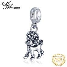 JewelryPalace 925 Серебряный пудель собака бусины подвески оригинальный подходит оригинальный браслет изготовления ювелирных изделий