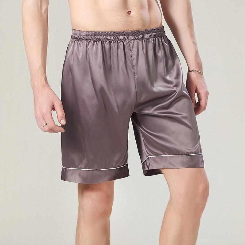 Summer Nighty Short Pants L-XXL Silky Mens Sleep Bottoms Male Bath Trousers Lounge Lingerie Sleepwear Nightgown Homewear