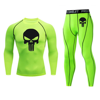 Men's Compression Sportswear Suits Gym Tights Training Clothes Workout Jogging Sports Set Running Rashguard Tracksuit For Men 22