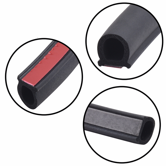 Full Car Seal Car Door Seal Strip Kit Soundproof Noise Insulation Weather Strip Sealing For Tesla