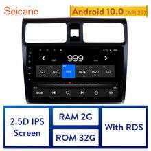 """Seicane 10.1 """"Car Multimedia Player Per Il 2005 2006 2007 2008 2009 2010 Suzuki Swift Android 10.0 Schermo di Tocco di HD GPS di Navigazione"""