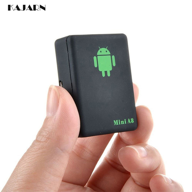 KAJARN GPS Tracker GSM/GPRS Tracker Mini A8 Global Real Time Tracking Device With SOS Button for Cars Kids Elder Pets Tracker image