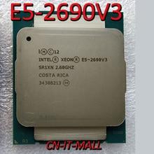 당겨 E5 2690V3 서버 cpu 2.6G 30M 12 코어 24 스레드 LGA2011 3 프로세서