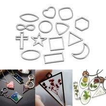 30 teile/los Border Mold Geometrischen Hohl Metall Rahmen Lünette Epoxy Harz Formen Anhänger Tray Für DIY Schmuck Machen Ohrringe