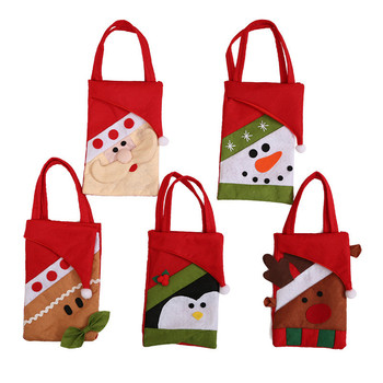 Christmas Gift Bags Xmas Santa Reindeer Snowman Jewelry Pouches for Party Favors Candy Holder Bag 50pcs set 28 13cm christmas bags santa claus snowman candy cookie bags with twist ties for xmas party supplies new year gift bag