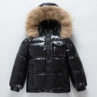 OLEKID 30 Degrees Winter Down Jacket For Boys Warm Thicken Girls Parka 1 8 Years Kids Baby Snowsuit Children Outerwear Coat