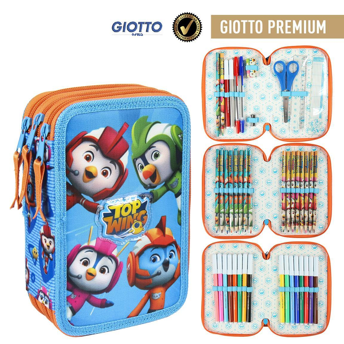 Plumier Triple Giotto Premium Top Wing Officially Licensed Children Gift Original