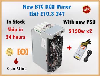 Nowy Ebit E10 3 24TH S z zasilaczem BCH BTC górnik ekonomiczny niż BITMAIN Antminer S9 S9j S9k S9SE S11 S15 T9 + T15 WhatsMiner M3 tanie i dobre opinie YUNHUI 10 100 1000 mbps 10kg 2700W+20