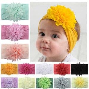 Детская нейлоновая повязка на голову с вафельными бантиками, 6 дюймов, эластичная мягкая нейлоновая повязка на голову для девочек, горячая Р...