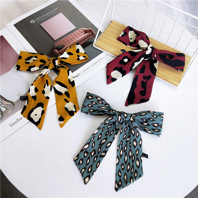 Small chiffon Scarf Women Bag Skinny Scarves Narrow Long Decorate Belt Head Band Fashion Necktie 2019 New