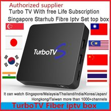 2019 new Singapore Starhub fibra Turbo TV IPTV box Vida Libre China HK TW Singapur Malasia Corea India Tailandia Japón canal(China)