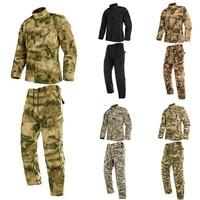 2PCs Man Military Uniform Jungle German Camouflage Combat Airsoft Tactical Jacket Pants Clothing Set ACU CP Army Suit Wholesale