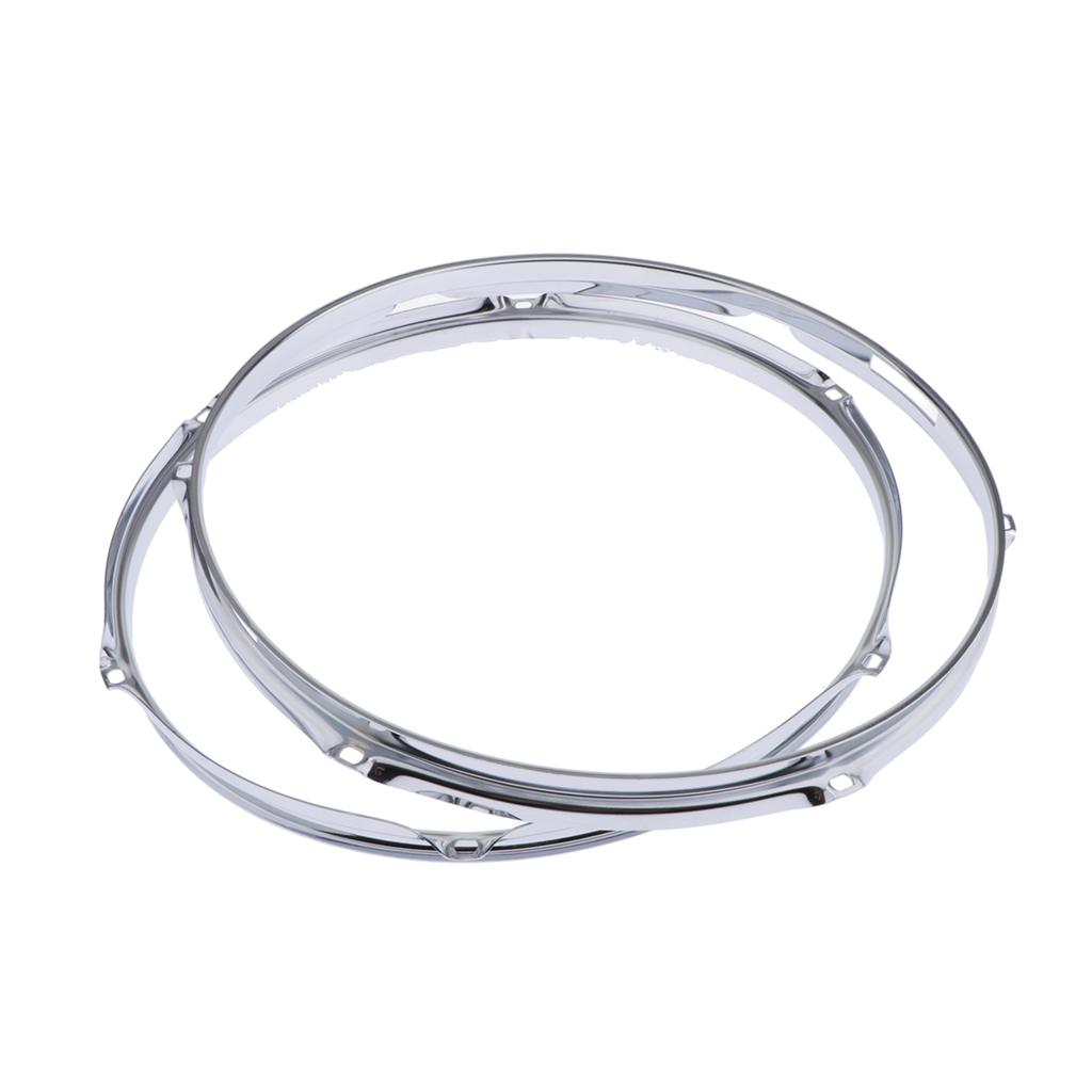 2 Pcs Premium Alloy Steel Snare Drum Hoop Rim 14 Inch 6 Holes 1.2mm