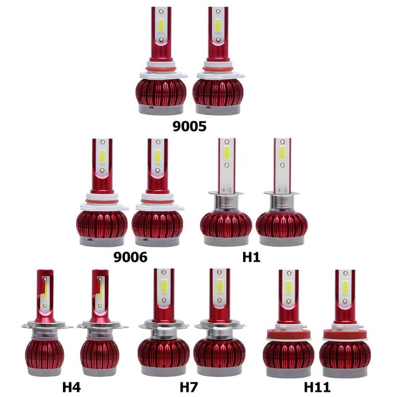 1 Pair LED Car Auto Headlight Bulbs 48W 12000LM 6000K DOB Automobile Headlamp Bulbs IP68 For 9005/ 9006/ H1/ H3/H4/ H7/ H11