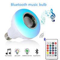 Smart E27 12W Fiala HA CONDOTTO LA Lampadina di RGB Della Luce Senza Fili di Bluetooth Audio Speaker Musica Riproduzione Lampada Dimmerabile con APP Remote di controllo