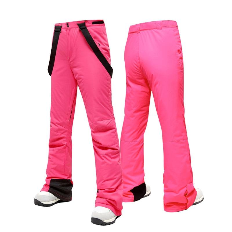 2019 NEW Slim-fit Ski Pants Women High Quality Windproof Waterproof Warm Couple Snow Trousers Winter Ski Snowboard Pants Brand