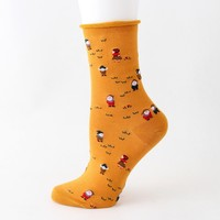 12Pairs Men Women Cute Socks Fashion Unisex Casual Christmas Printed Middle Sports Funny Socks Women W916