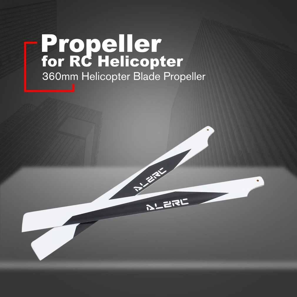 1 paar 360mm Helicopter Blade Propeller RC Onderdelen Carbon Fiber Main Blade Propellers 3D Vlucht Paddle voor RC Helicopter