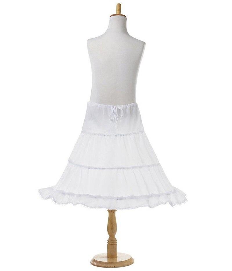 Tutu Skirts Girl Wedding Petticoat Bridal 3 Hoops Crinoline Prom Underskirt Fancy Skirt  Ball Gown Elastic Waist 3-14 Years 5