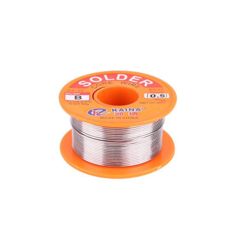 New Solder Wire 50g Soldering Solder 0.5/0.6/0.8/1/1.2/1.5/2 Mm Welding Wire 63/37 FLUX 2.0% Tin For Soldering Lead Free Wire
