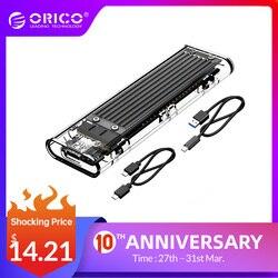 ORICO M.2 SSD корпус для NVME PCIE NGFF SATA M/B Ключ SSD диск NVME SSD корпус M.2 к USB C прозрачный жесткий диск коробка 10 Гбит/с