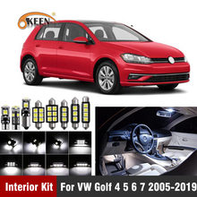 13Pcs Canbus Led Auto Luci Interne Kit per Il Vw Volkswagen Golf 4 5 6 7 Gti 2005-2019 luci a Led per Interni Lampadine Della Cupola Mappa Luce(China)