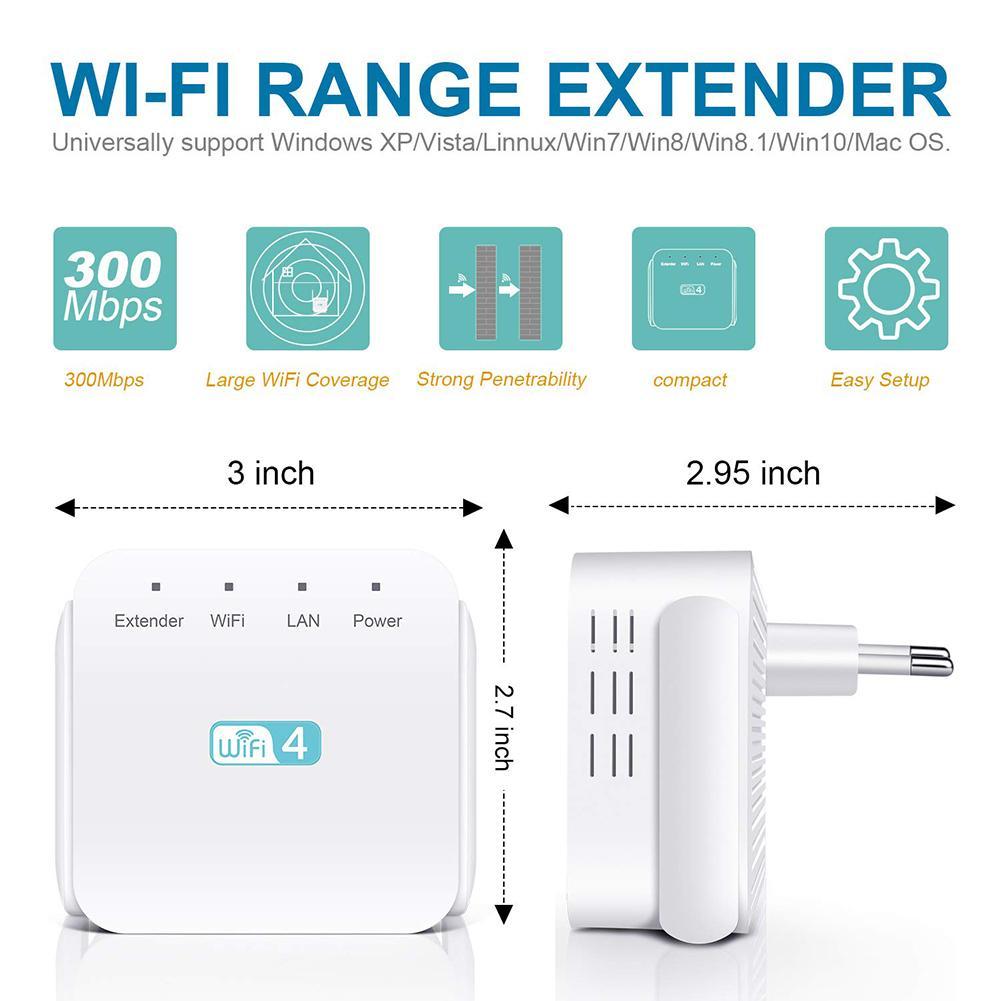 Neue Drahtlose WIFI Repeater 300Mbps Übertragung Geschwindigkeit Internet Signal Booster Wand Montiert Verstärker Ultra Kompakte WIFI Extender