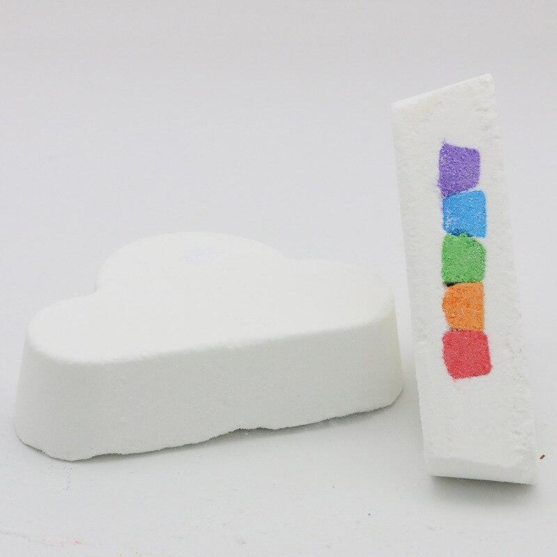160 г органика радуга облако ванна бомбы соль мяч эфирные масла масло мыло увлажнение пузырь душ отбеливание кожа спа ванна принадлежности