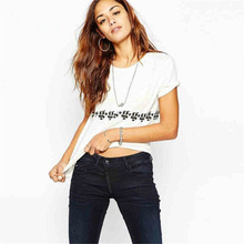 купить Symbol Simple T Shirt Women Korean Clothes Casual Cotton O-Neck Tshirt Women Clothes 2019 T-Shirt S M L XL XXL Short Sleeve 5051 дешево