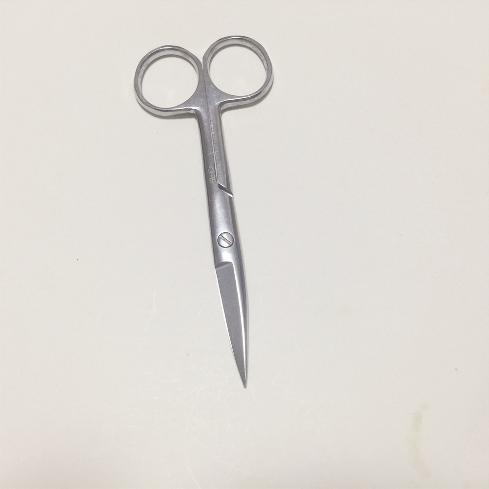 Stainless Steel Surgical Scissors Laboratory Medical Household Tissue Scissors Straight Tip For Practice Using 12.5/14/16/18cm