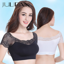 JIULIPAN Lace vest no steel ring bottoming tube top back strap bra backless autumn thin sexy lingerie