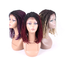 16 inch Braided Wigs Synthetic Lace Front Wig