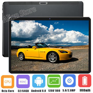 Sales Tablet Tempered Glass 2.5D 10 inch tablet PC Android 8.0 Octa core 4GB RAM 64GB