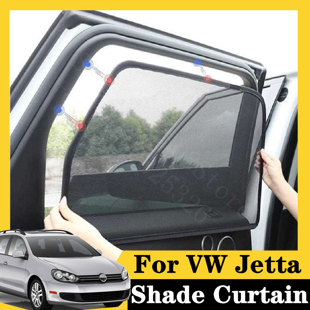 For <font><b>VW</b></font> Jetta 2005-2012 <font><b>SportWagen</b></font> 5Pcs card type magnetic car curtain sun shade car window shade car styling image