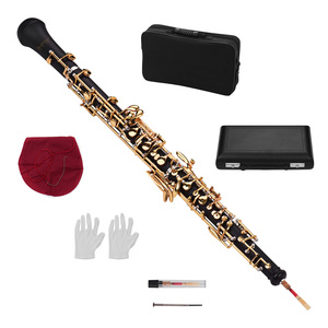 Image 2 - Muslady Professional C Key Oboe Semi automatic Style Woodwind Instrument with Oboe Reed Gloves Leather Case Carry Bag