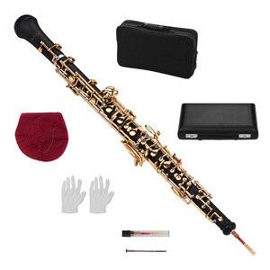 Image 2 - Muslady Professional C Key Oboe สไตล์กึ่งอัตโนมัติ Woodwind Instrument Oboe Reed ถุงมือหนังพกพากระเป๋า