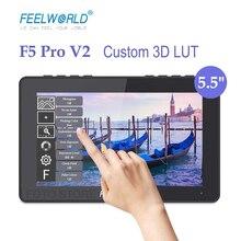 """FEELWORLD F5 Pro V2 5.5 """"Touch Screen Camera Field Monitor 3D LUT 4K compatibile HDMI sul Monitor della fotocamera per DSLR camera Gimbal"""