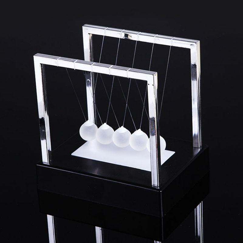 Glowing Newton Billiards Decorative Desk Decoration Newton Pendulum Figurines & Miniatures     - title=
