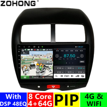 4 + 64Gb Octa Core Android Voor Mitsubishi Asx Rvr Outlander Spotr Auto Multimedia Dvd Speler Autoradio Gps Navigatie radio Stereo