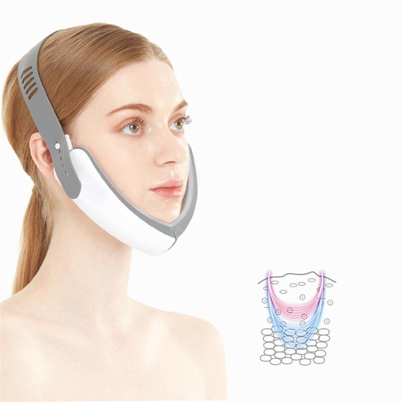 1Pc Vibratory Electric V Face Lift Tool Thin Instrument Facial Massage Red Light Blue Skin Lifting Rejuvenation Firming Massager