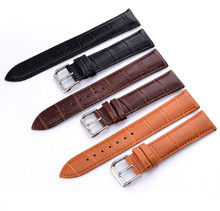Watch Band Genuine Leather straps Watchbands 12mm 18mm 20mm 14mm 16mm 19mm 22mm  accessories women men Brown Black Belt