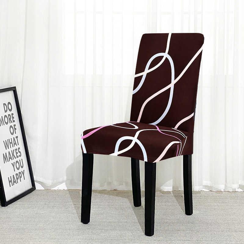 housse de chaise pour salle a manger spandex impression florale housse de siege de cuisine moderne amovible anti salissure 1 piece