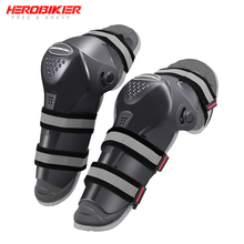 HEROBIKER Motocross Knee Protector Guard Motorcycle Knee Pads Joelheira Skiing Kneepad Moto Knee Brace Support Protective Gear
