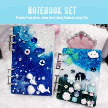 A7 A6 A5 Transparante Loose Leaf Binder Notebook Inner Core Cover Note Book Journal Planner Kantoorbenodigdheden Supplies(China)