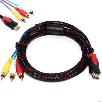 Ouhaobin HDMI macho a 3 audio RCA AV Video 5FT Cable adaptador de Cable para TV HDTV DVD 1080p 3RCA Coaxial Aux cables convertidores