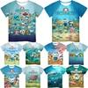 Octonauts 3D Printed T Shirts for Girls Boys Teens Summer Kids Anime T-shirts Camiseta Toddler Cartoon Tee Tops Children Gift